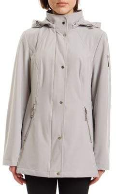Vince Camuto Hooded Snap Front Jacket
