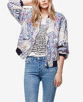 Free People Printed Bomber Jacket