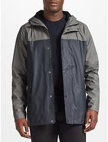 Samsoe & Samsoe Drop Rain Waterproof Jacket, Grey Blue