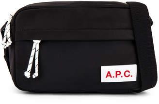 A.P.C. Camera Protection Bag in Noir & Multi | FWRD