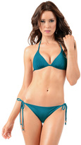 Voda Swim Peacock Envy Push Up String Bikini Top