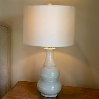 "Three Posts Purcellville 27"" Table Lamp Base Color: Angelic Blue"