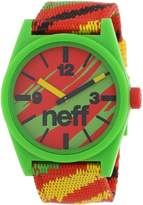 Neff Men's NF0209- Custom Designed and Nylon Strap Watch