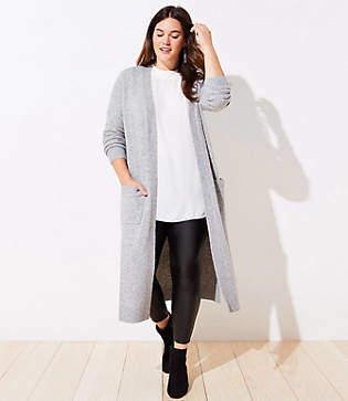 LOFT Plus Pocket Duster Sweater