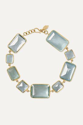 Pippa Small 18-karat Gold Aquamarine Bracelet - one size