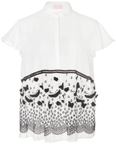Giamba Cotton Shirt with Butterfly Detail