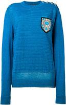 Balmain shield sweater