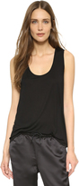 Alexander Wang Classic Low Neck Flared Tank