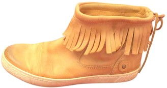 Free People Camel Leather Ankle boots
