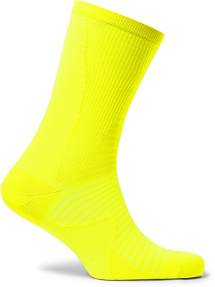 Nike Running - Spark Lightweight Stretch-knit Socks - Yellow