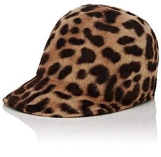 Borsalino Women's Mélusine Leopard-Print Fur-Felt Baseball Cap - Beige, Tan