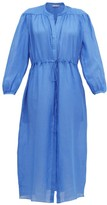 Three Graces London Julienne Ramie Shirt Dress - Womens - Blue