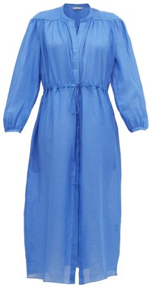 Three Graces London Julienne Ramie Shirt Dress - Blue