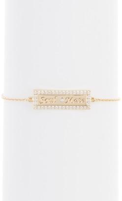 Lulu DK Soulmate CZ Bar Bracelet