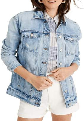 Madewell Distressed Oversize Jean Jacket