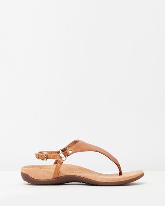 Vionic Women's Brown Flat Sandals - Kirra Backstrap Sandals - Size One Size, 5 at The Iconic
