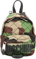 Moschino quilted camouflage mini backpack