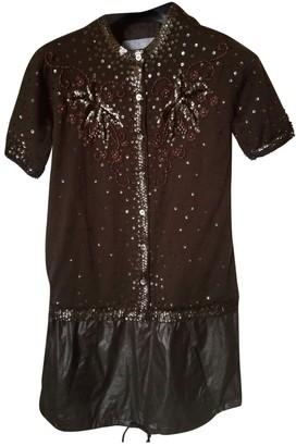 Sacai Brown Wool Dresses