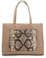 Vince Camuto Women's Elvan Leather Tote -Taupe Embossed
