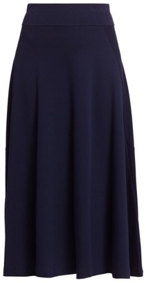 Joan Vass Petite A-Line Midi Skirt
