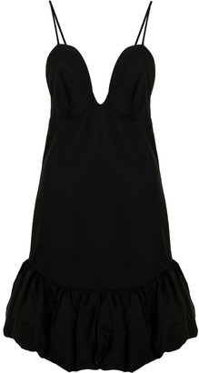 KHAITE Sienna bubble hem mini dress