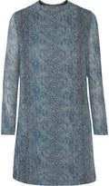 Tory Burch Snake-print silk-georgette mini dress