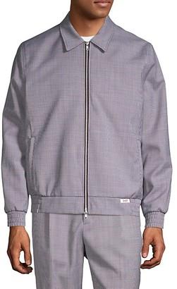 Ovadia & Sons Mcgregor Print Point-Collar Bomber Jacket