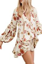 Free People Crinkly Printed Tunic