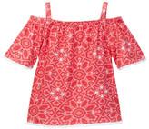 Lucky Brand Kaleidoscope Off-the-Shoulder Top (Little Girls)