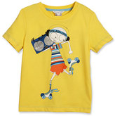 Little Marc Jacobs Essential Mister Marc Jersey Tee, White, Size 4-5