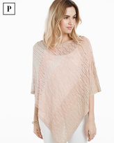 White House Black Market Petite Ombre Poncho Sweater