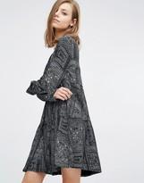 BA&SH Mimsy Smock Dress In Geometric Print