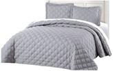 Ash Serenta Charleston Down Alternative Bed Spread Set, Gray, Queen