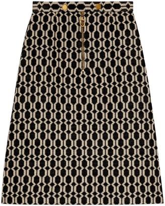 Gucci Optical tweed skirt