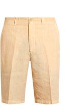 120% Lino 120 LINO Mid-rise slim-leg linen shorts