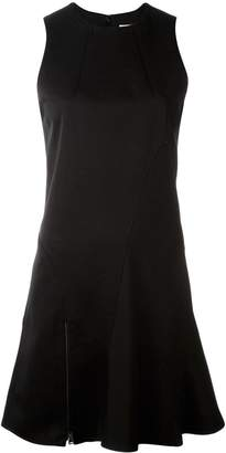 Paco Rabanne zip detailing flared dress