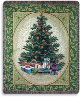 Bed Bath & Beyond Holiday Holly Tree Throw Blanket