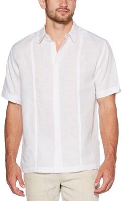 Cubavera Men's Short Sleeve Linen Cotton with Tucks