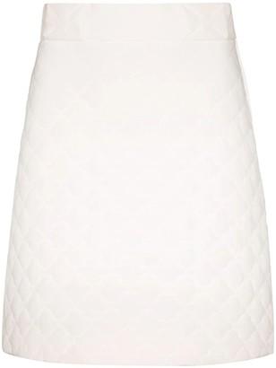 Fendi High-waisted Silk Quilted Skirt