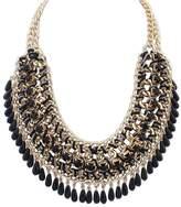 ShiningLove Fashion Retro Ethnic Style Woven Beads Waterdrop Bohemia Vintage Choker Bib Chain Chunky Statement Necklace