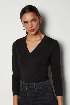 V-Neck Ponte T-Shirt