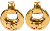One Kings Lane Vintage Chanel Oversize Gold Hoop Earrings