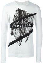 Helmut Lang printed longsleeved T-shirt - men - Cotton/Spandex/Elastane - S