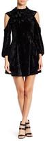 Angie Velvet Cold Shoulder Dress