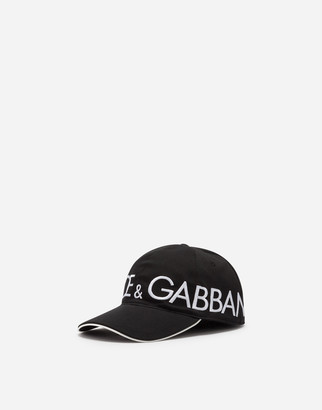 Dolce & Gabbana Cotton Baseball Cap With Embroidery