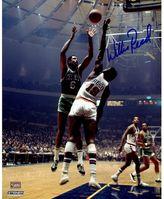 "Steiner Sports New York Knicks Willis Reed Blocking Bill Russell 8"" x 10"" Signed Photo"