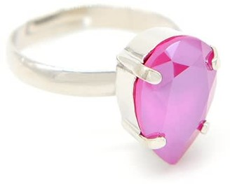 Rosaspina Firenze Drop Ring In Peony Pink