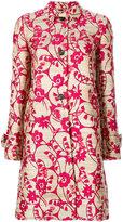 Valentino flower jacquard coat - women - Silk/Acrylic/Polyamide/Metallic Fibre - 38