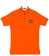 Stone Island Junior - logo polo shirt - kids - Cotton/Spandex/Elastane - 14 yrs