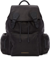 Burberry Black Large Leather Rucksack
